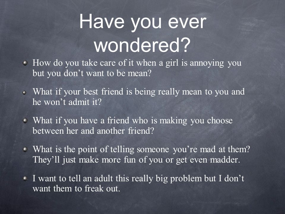 Have you ever wondered.