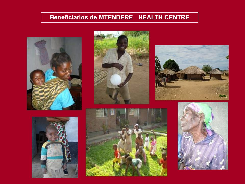 Beneficiarios de MTENDERE HEALTH CENTRE