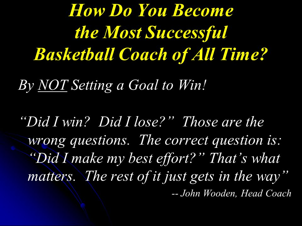 How Do You Become the Most Successful Basketball Coach of All Time.