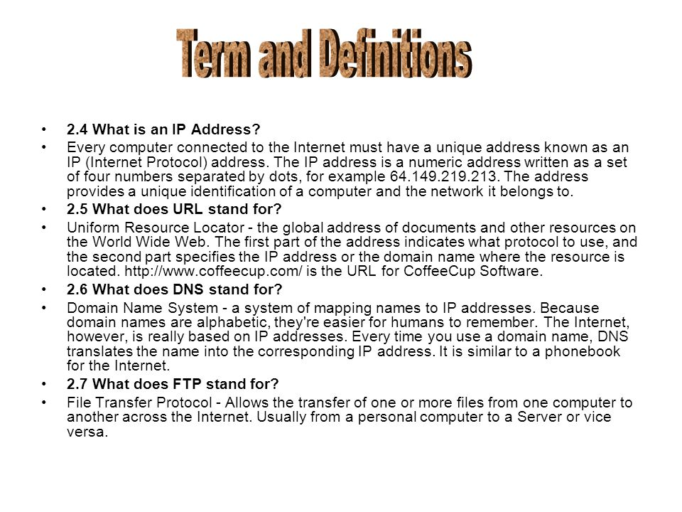 2.4 What is an IP Address.