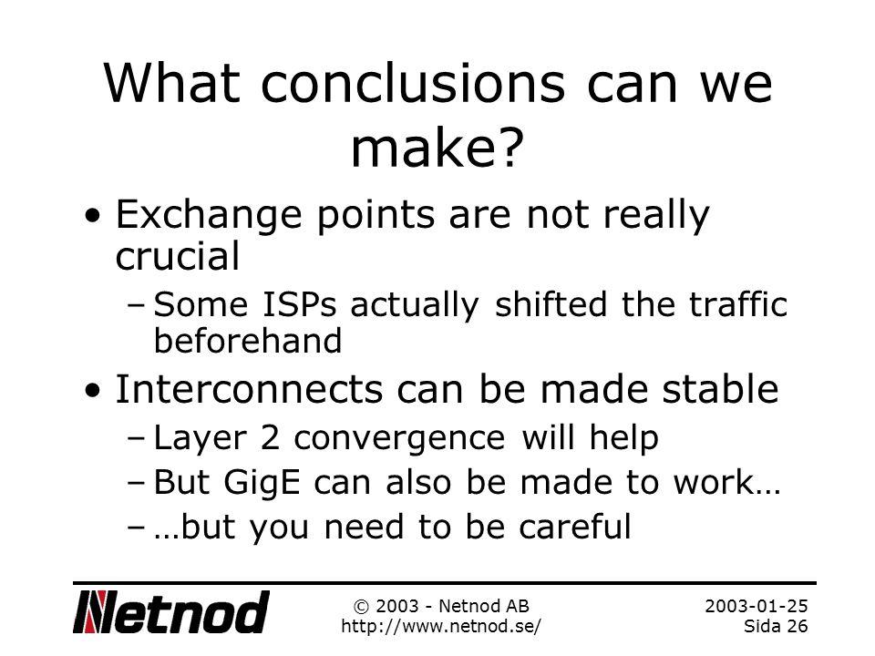 2003-01-25 Sida 25 © 2003 - Netnod AB http://www.netnod.se/ BGP Activity - details