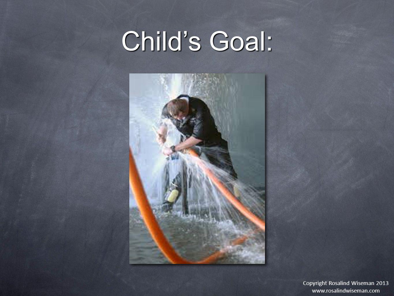 Copyright Rosalind Wiseman 2013 www.rosalindwiseman.com Child's Goal: