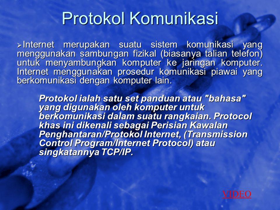 © 2002 By Default! A Free sample background from www.awesomebackgrounds.com Slide 10 Protokol Komunikasi  Internet merupakan suatu sistem komunikasi