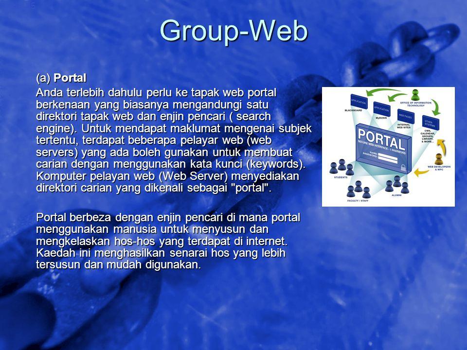 © 2002 By Default! A Free sample background from www.awesomebackgrounds.com Slide 35 Group-Web (a) Portal Anda terlebih dahulu perlu ke tapak web port