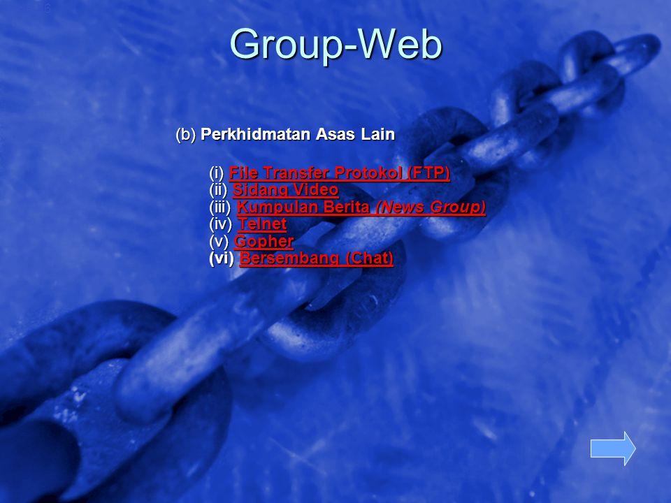 © 2002 By Default! A Free sample background from www.awesomebackgrounds.com Slide 36 Group-Web (b) Perkhidmatan Asas Lain (i) File Transfer Protokol (