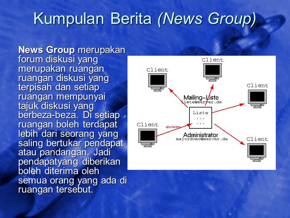 © 2002 By Default! A Free sample background from www.awesomebackgrounds.com Slide 39 Kumpulan Berita (News Group) News Group merupakan forum diskusi y