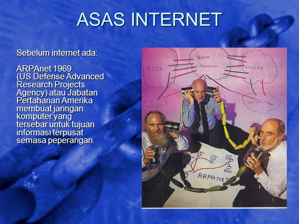© 2002 By Default! A Free sample background from www.awesomebackgrounds.com Slide 7 ASAS INTERNET Sebelum internet ada: ARPAnet 1969 (US Defense Advan