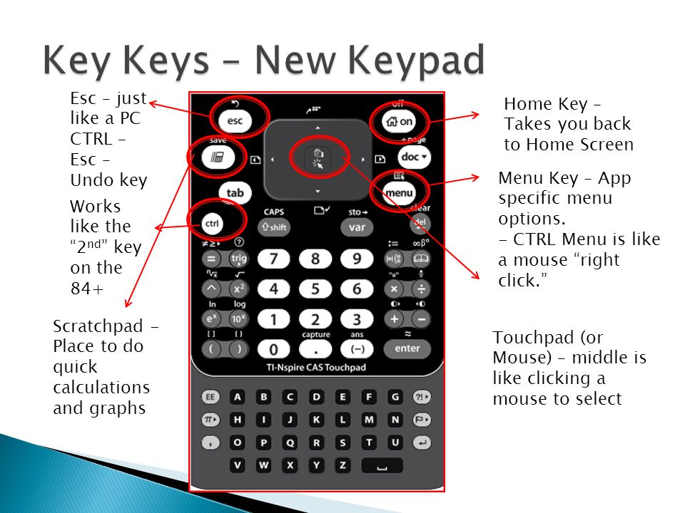 Home Key – Takes you back to Home Screen Menu Key – App specific menu options.