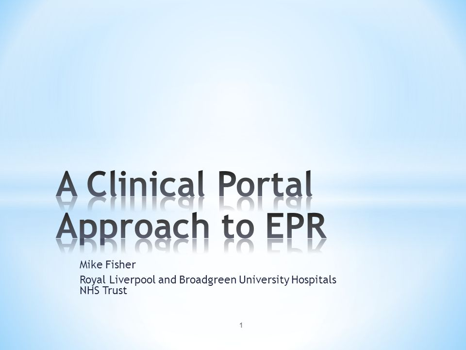 2 * Critical factors for success * Why an EPR at all * The Portal approach to EPR * Strengths and Weaknesses