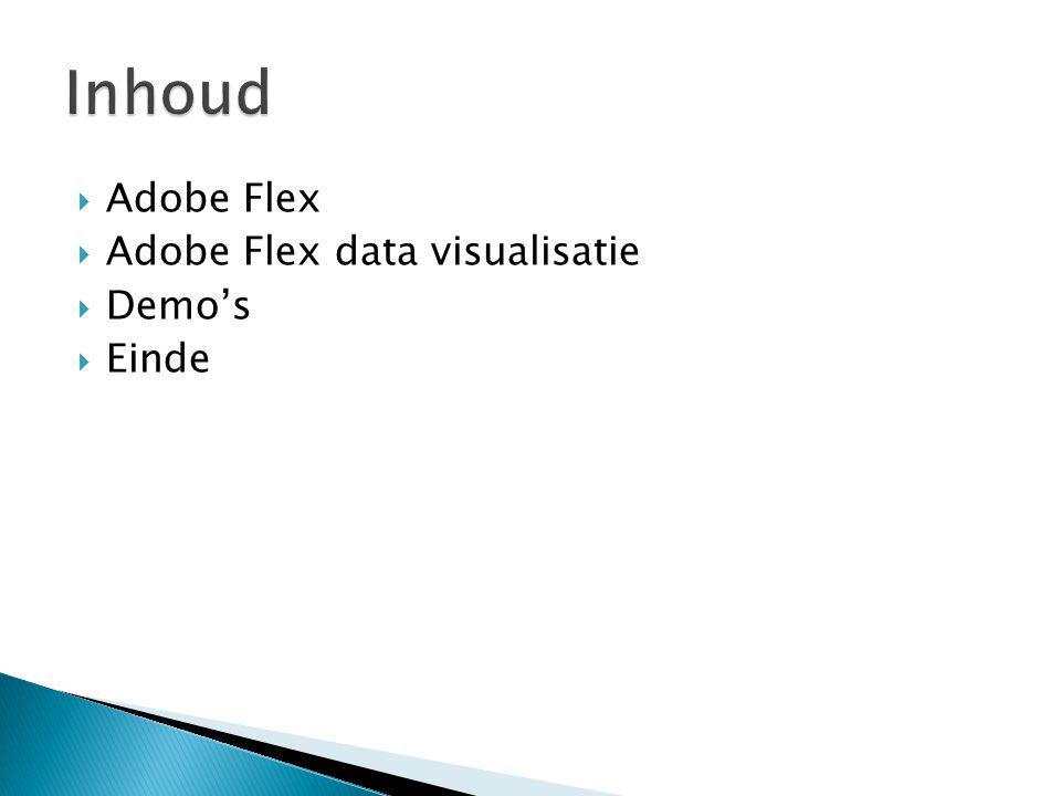  Adobe Flex  Adobe Flex data visualisatie  Demo's  Einde