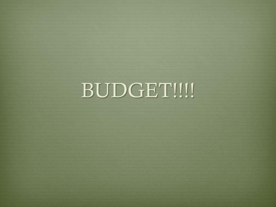 BUDGET!!!!