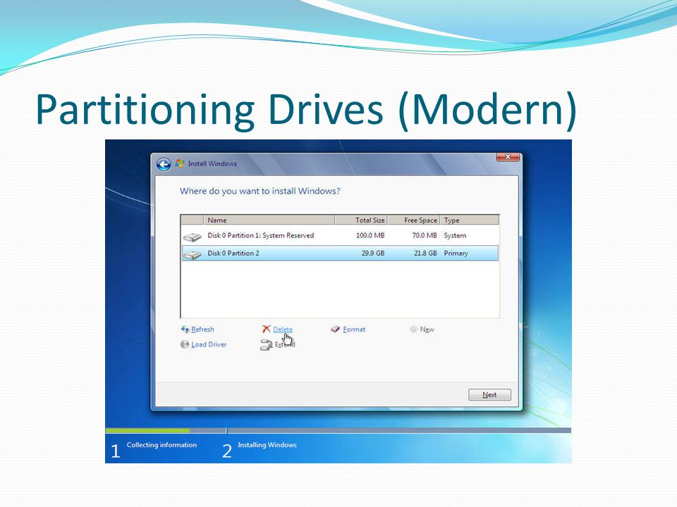 Partitioning Drives (Modern)