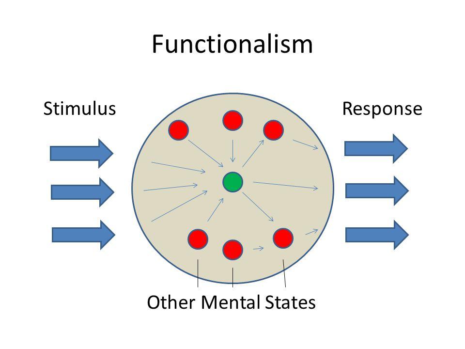 Functionalism StimulusResponse Other Mental States