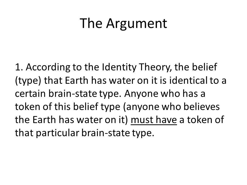 The Argument 1.