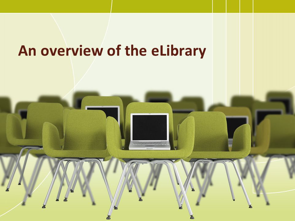 An overview of the eLibrary