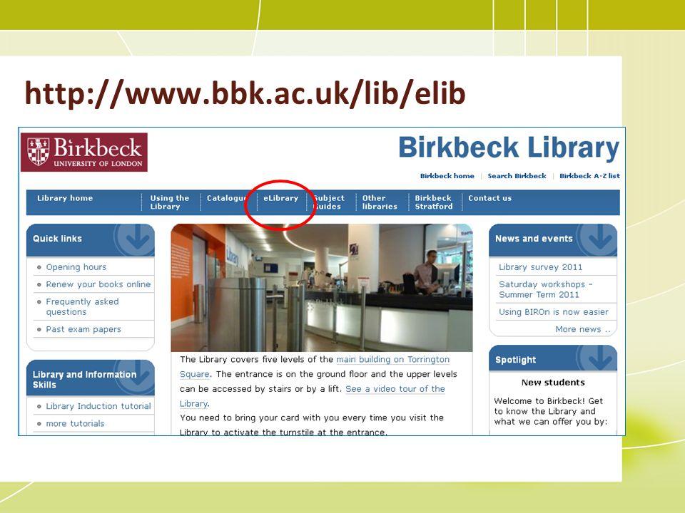 http://www.bbk.ac.uk/lib/elib