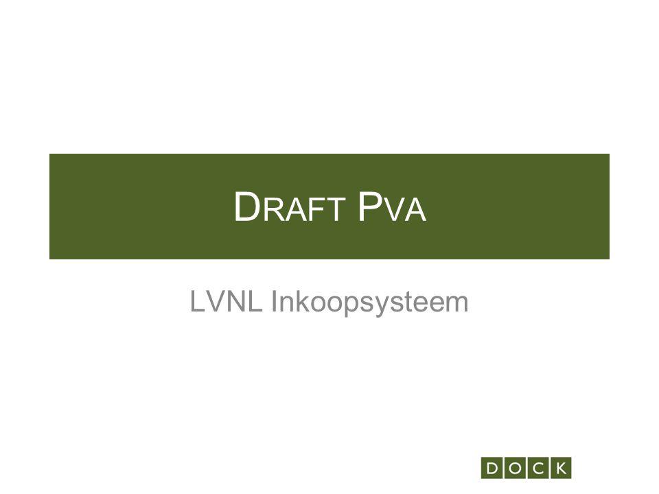 D RAFT P VA LVNL Inkoopsysteem