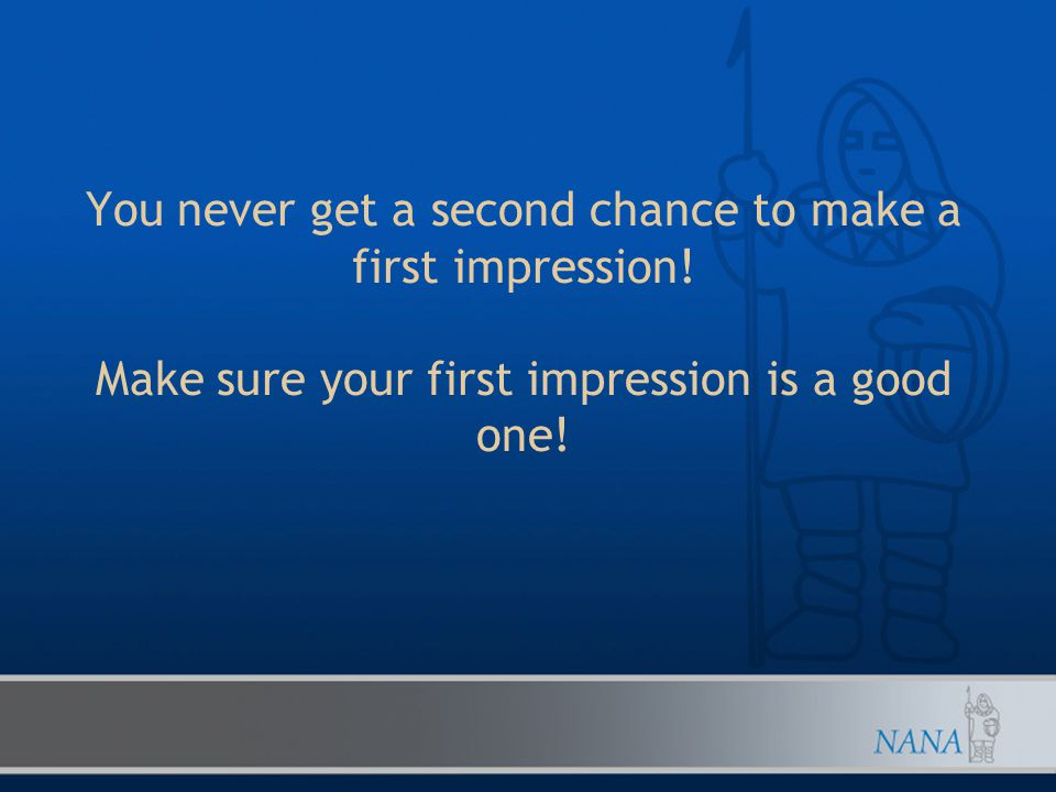 What takes a few seconds and tells an employer you're confident and the right person for the job?