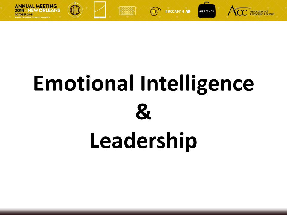 Emotional Intelligence & Leadership