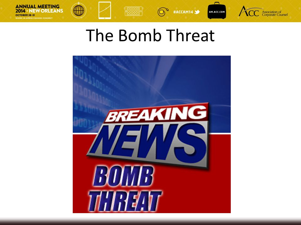 The Bomb Threat