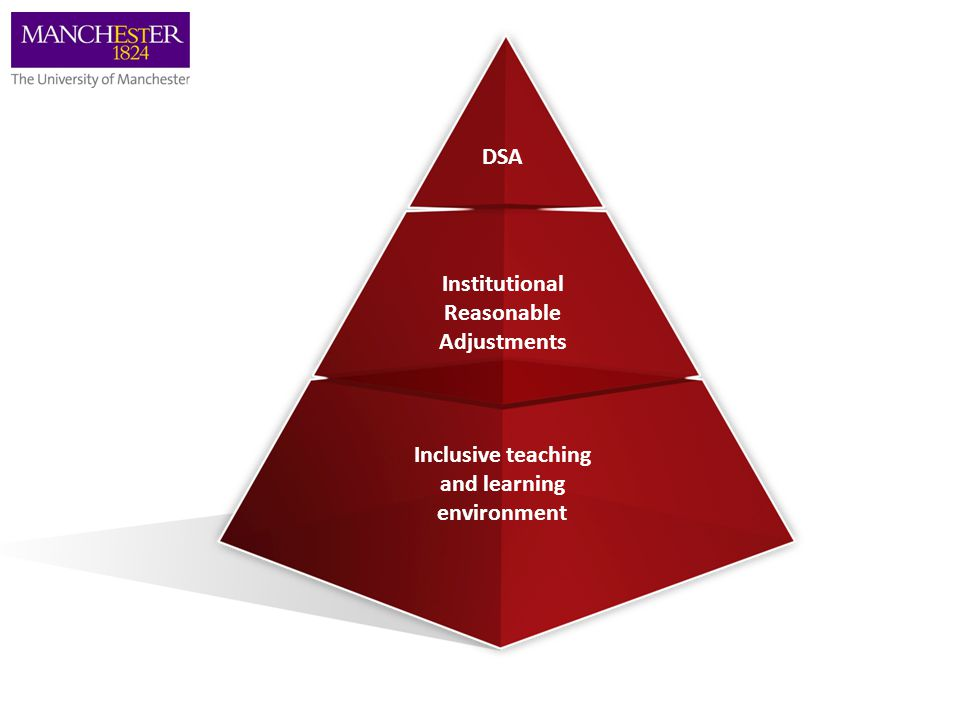 DSA Institutional Reasonable Adjustments Inclusive teaching and learning environment