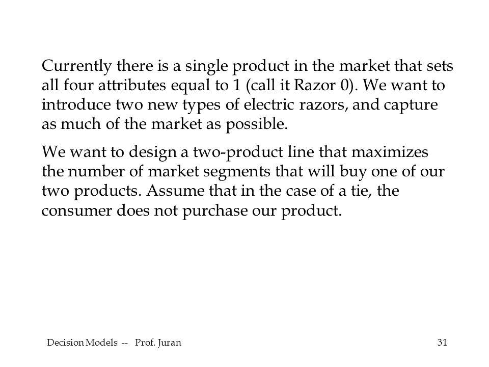 Decision Models -- Prof.