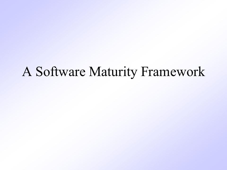 A Software Maturity Framework