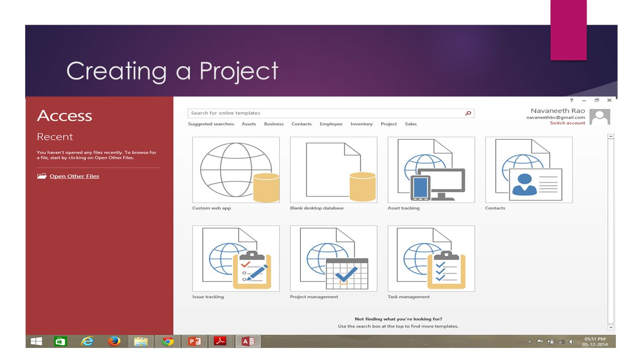 Creating a Project