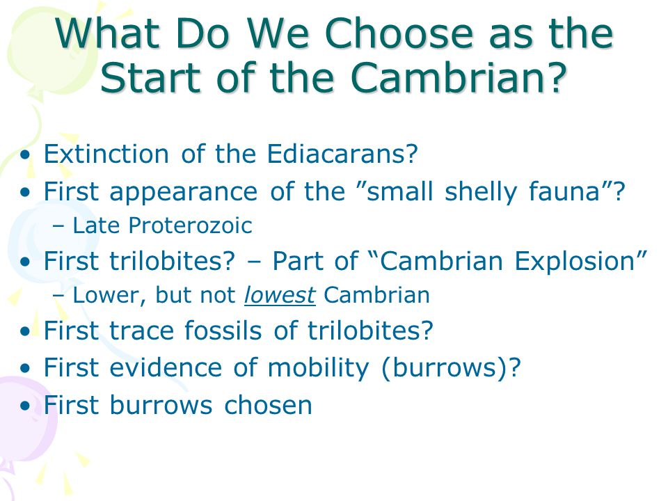 What Do We Choose as the Start of the Cambrian.Extinction of the Ediacarans.