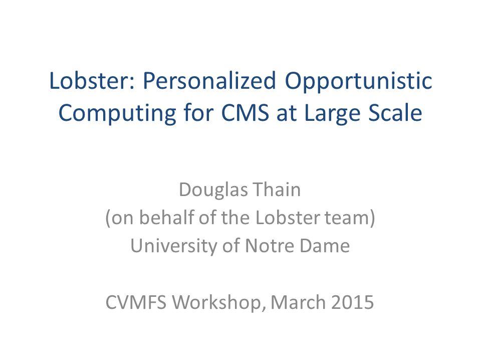 Cooperative Computing Lab http://ccl.cse.nd.edu http://ccl.cse.nd.edu Douglas Thain dthain@nd.edu