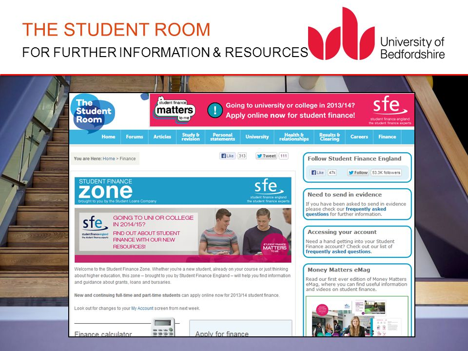 THE STUDENT ROOM FOR FURTHER INFORMATION & RESOURCES