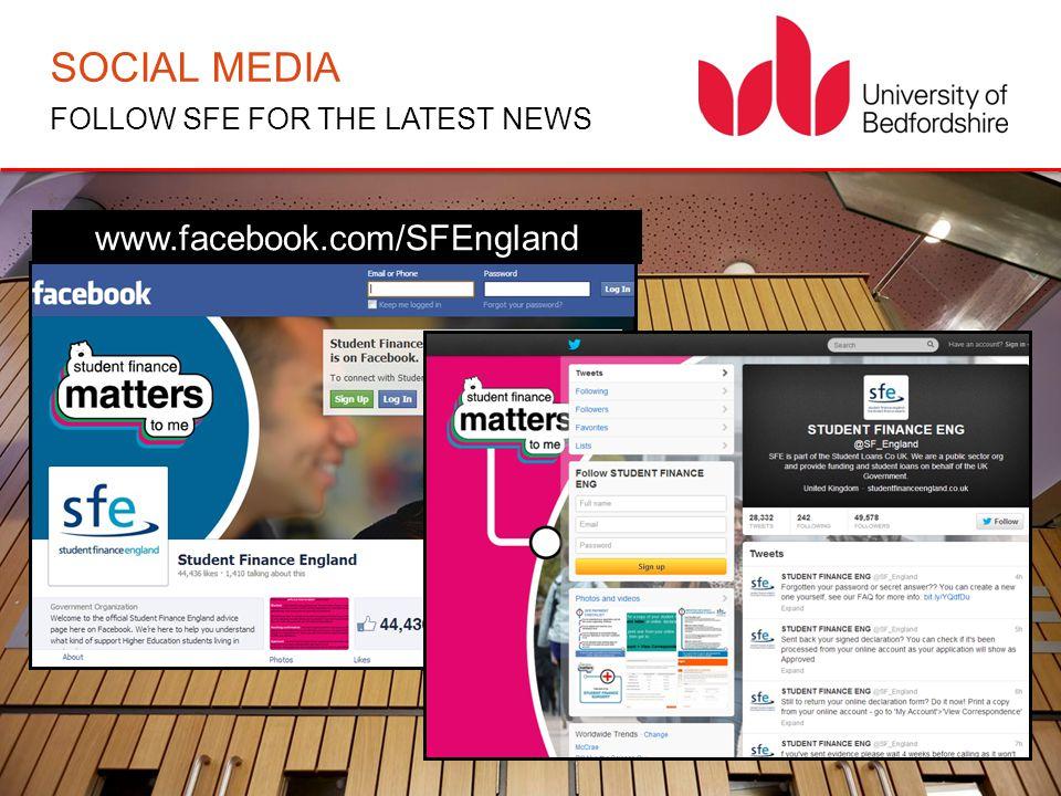 SOCIAL MEDIA FOLLOW SFE FOR THE LATEST NEWS www.facebook.com/SFEngland