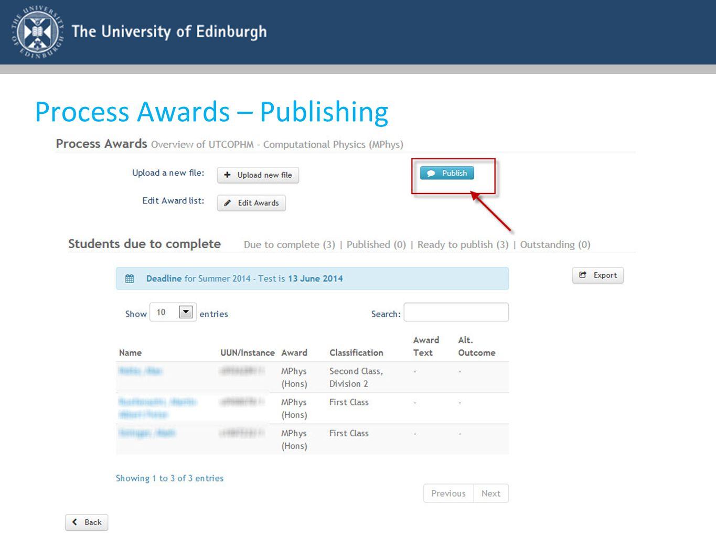 Process Awards – Publishing