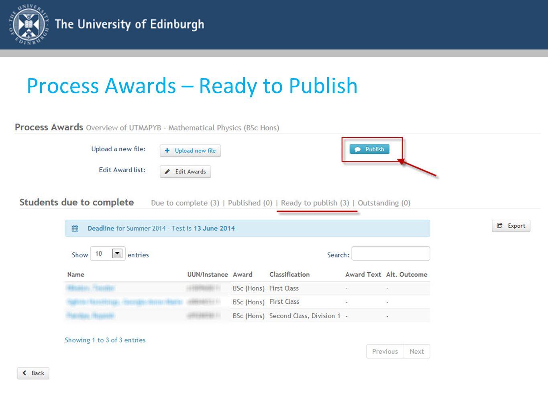 Process Awards – Ready to Publish