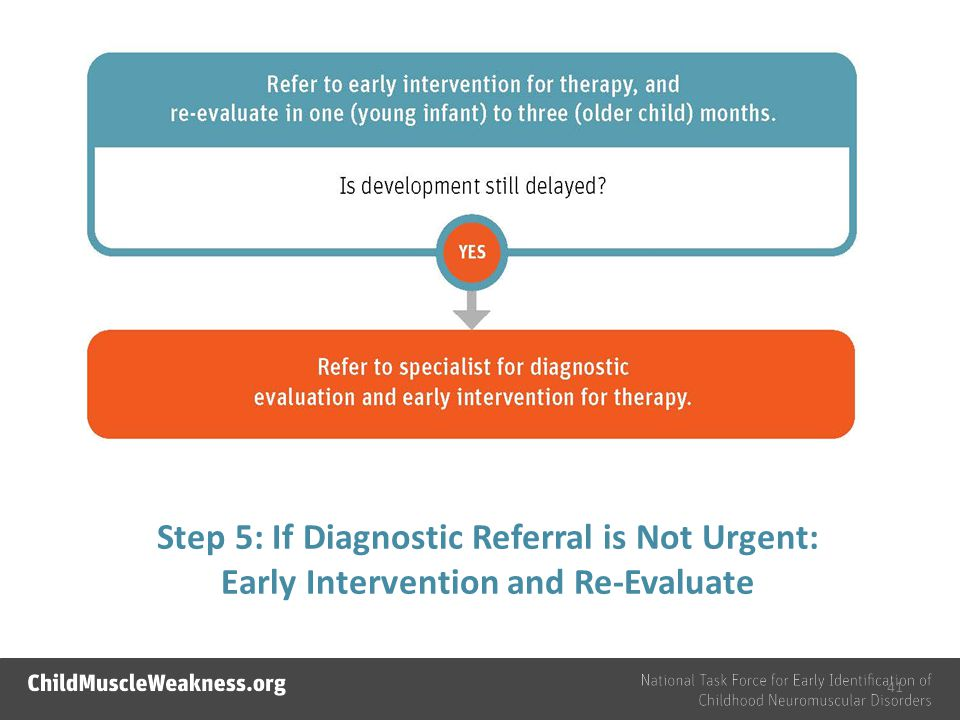 Step 5: If Diagnostic Referral is Not Urgent: Early Intervention and Re-Evaluate 41