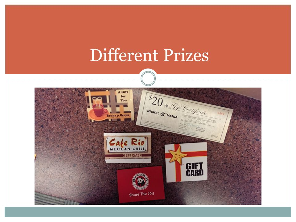 Different Prizes