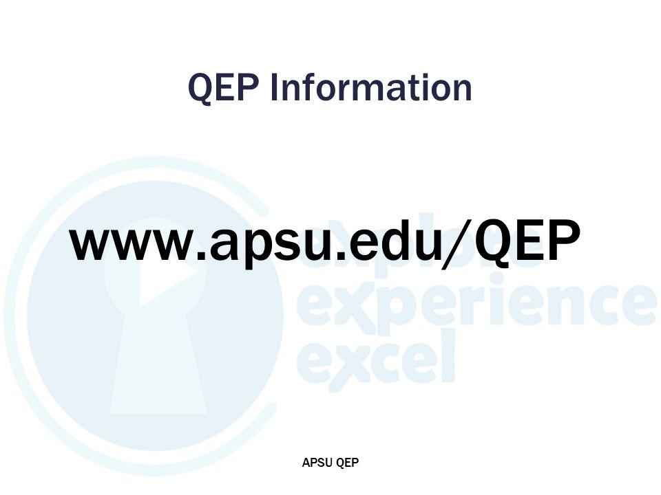 QEP Information www.apsu.edu/QEP APSU QEP