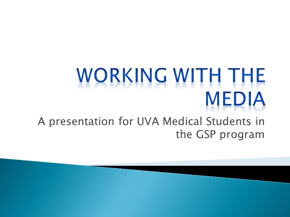 A presentation for UVA Medical Students in the GSP program