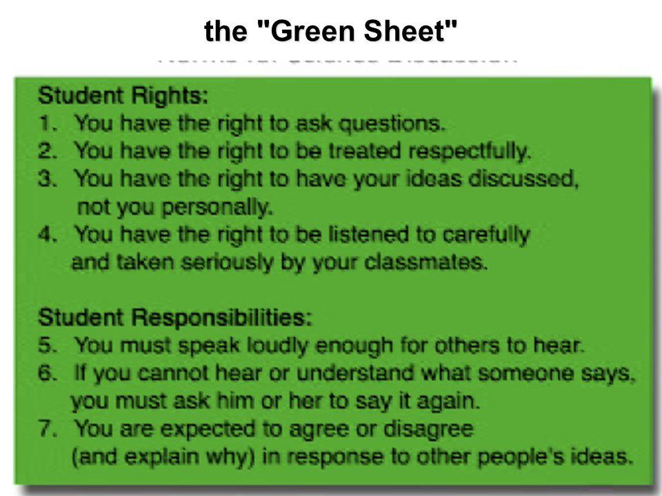 the Green Sheet