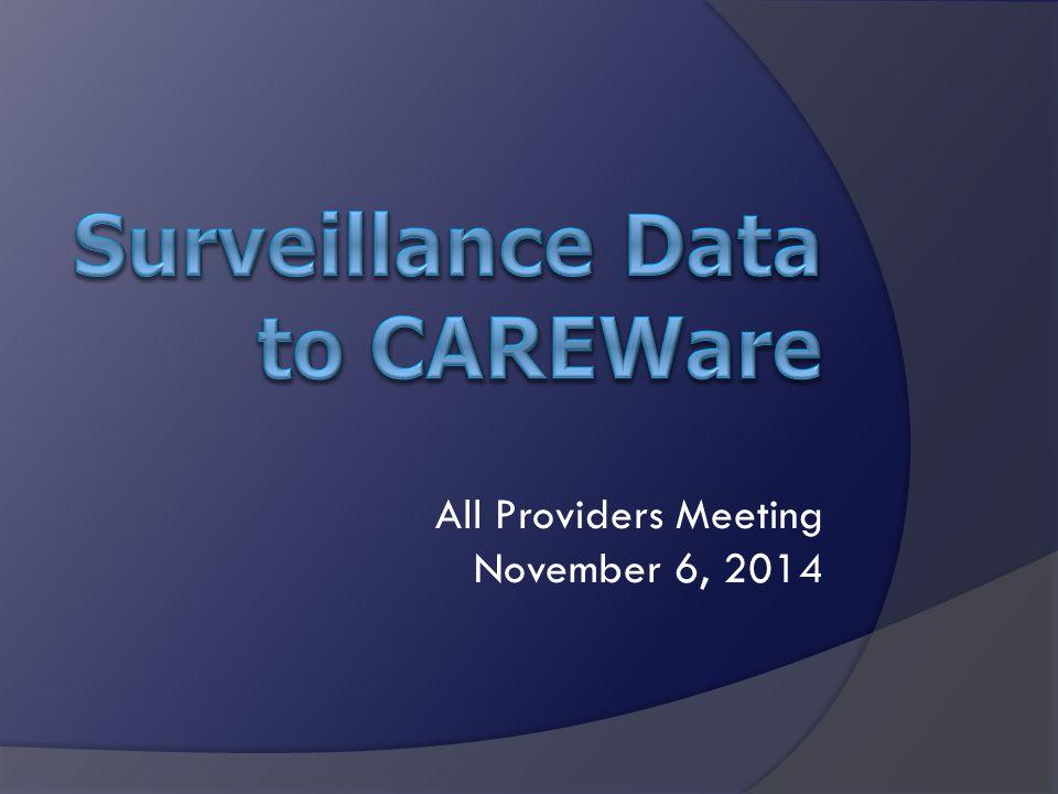 All Providers Meeting November 6, 2014