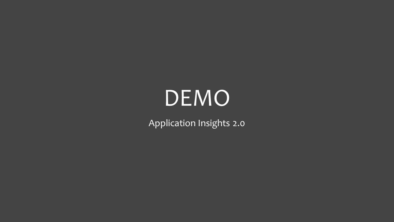 DEMO Application Insights 2.0