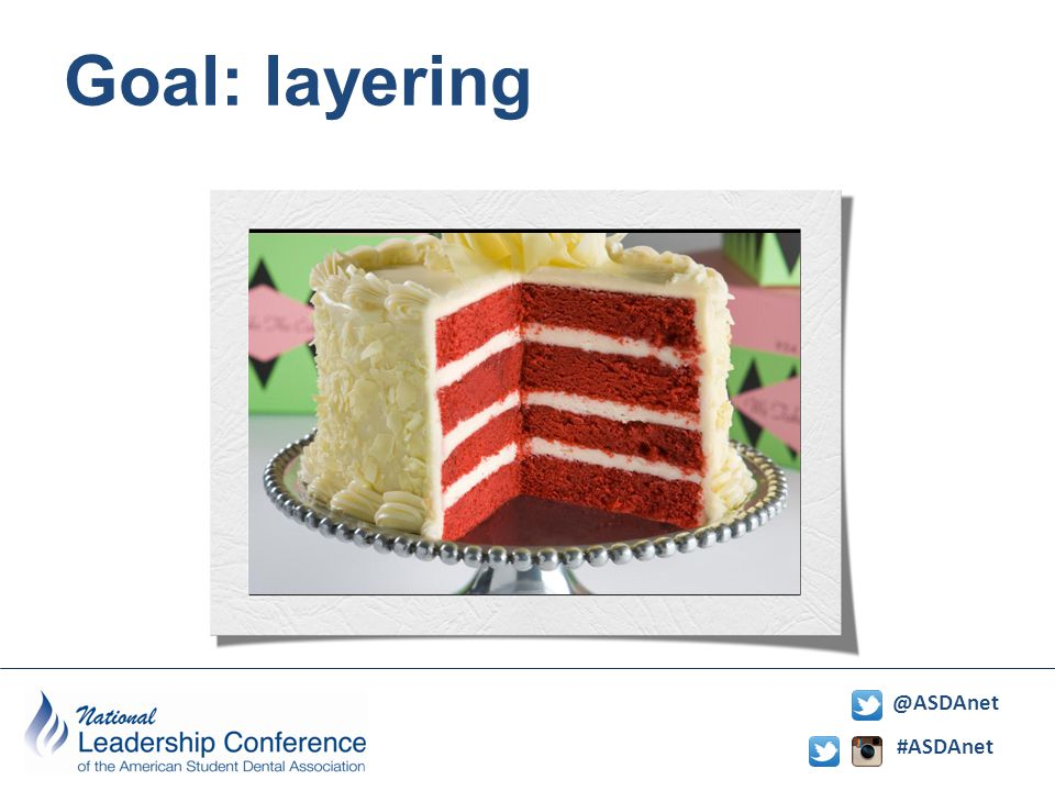 #ASDAnet @ASDAnet Goal: layering