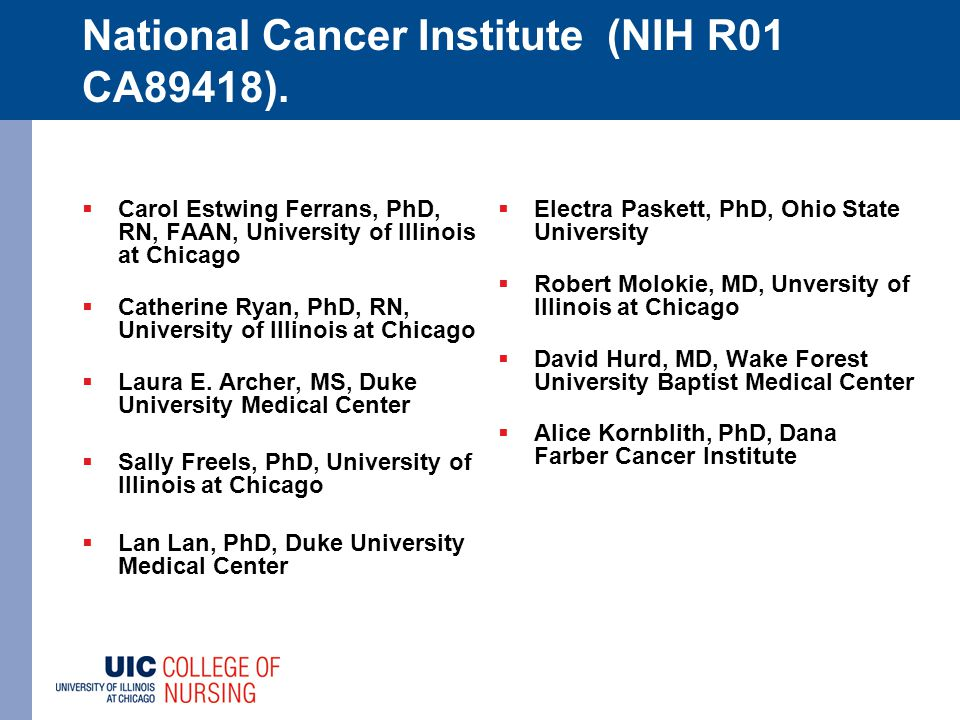 National Cancer Institute (NIH R01 CA89418).