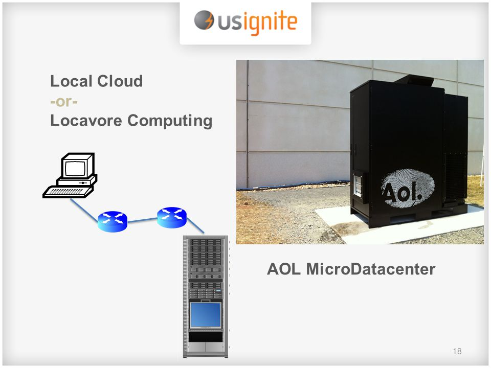 18 Local Cloud -or- Locavore Computing AOL MicroDatacenter