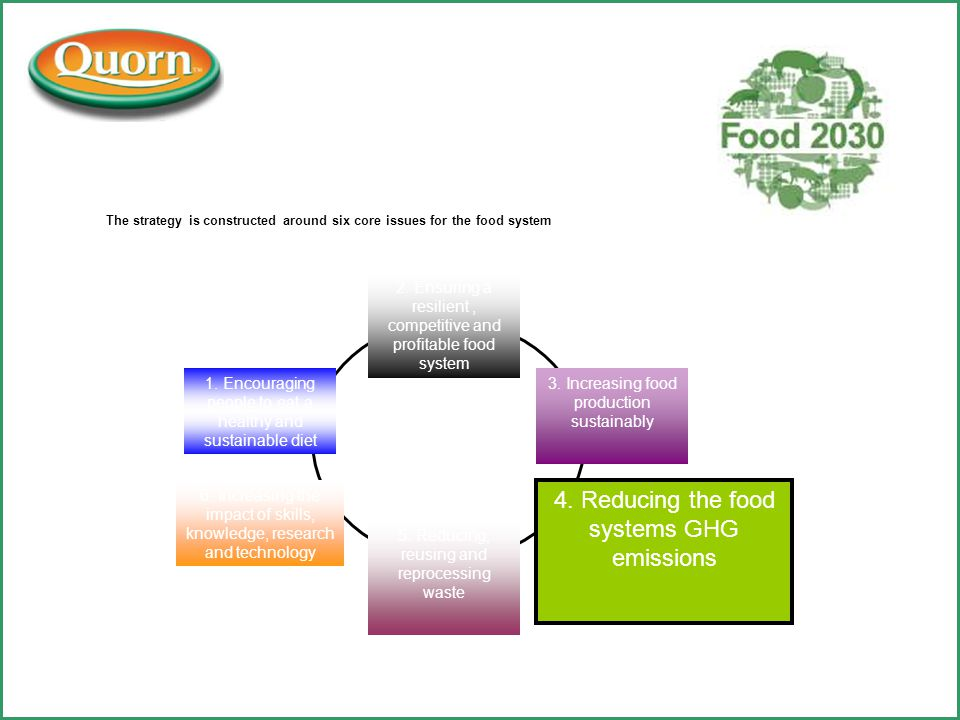 The strategy is constructed around six core issues for the food system 2.