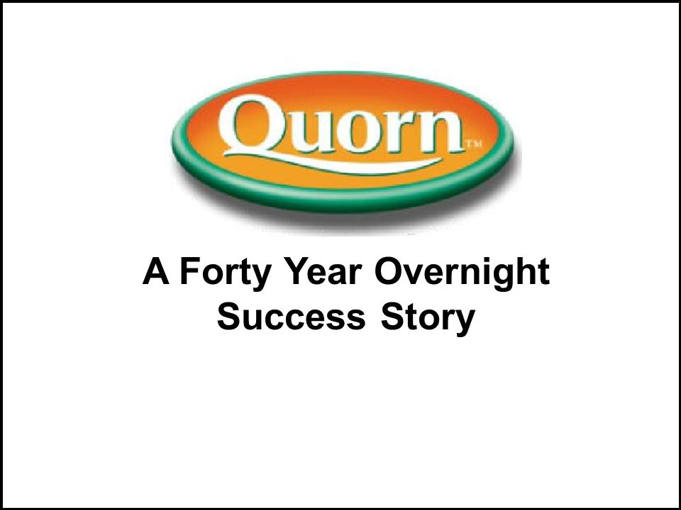 A Forty Year Overnight Success Story