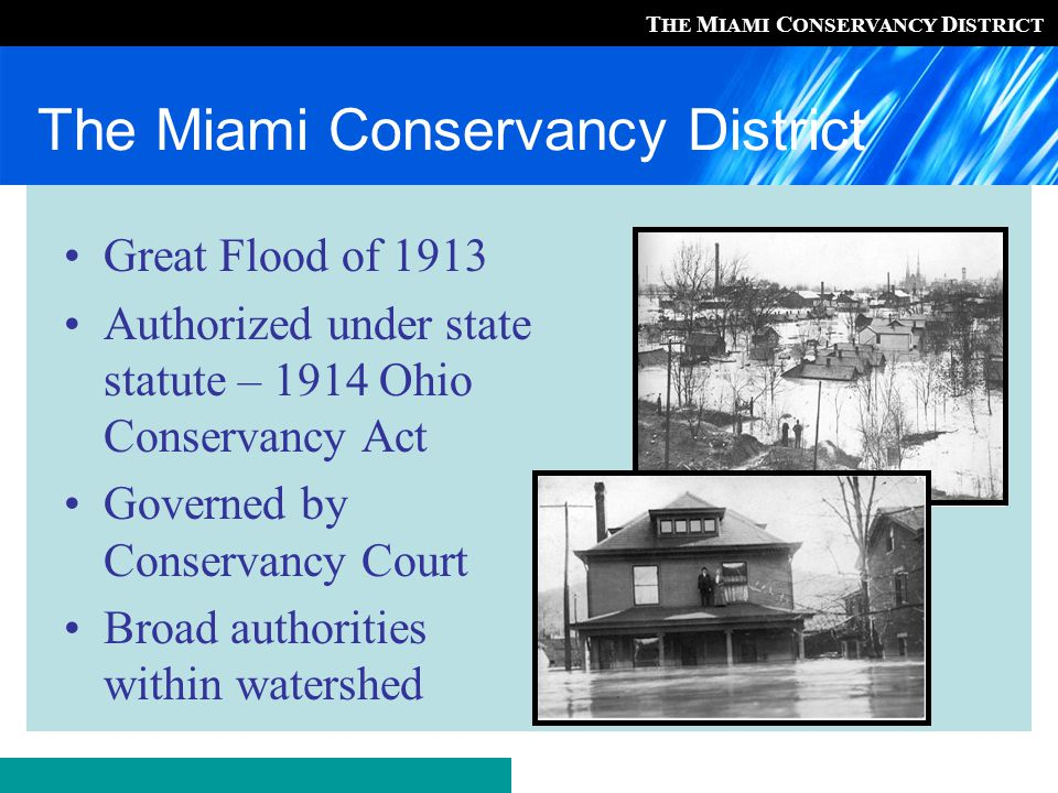 T HE M IAMI C ONSERVANCY D ISTRICT Exurban Land Use Planning Ohio counties and townships have a somewhat limited ability to handle the population and land use changes… (OSU, 2003) Health district staff may act as de facto planners when approving/disapproving HSTSs
