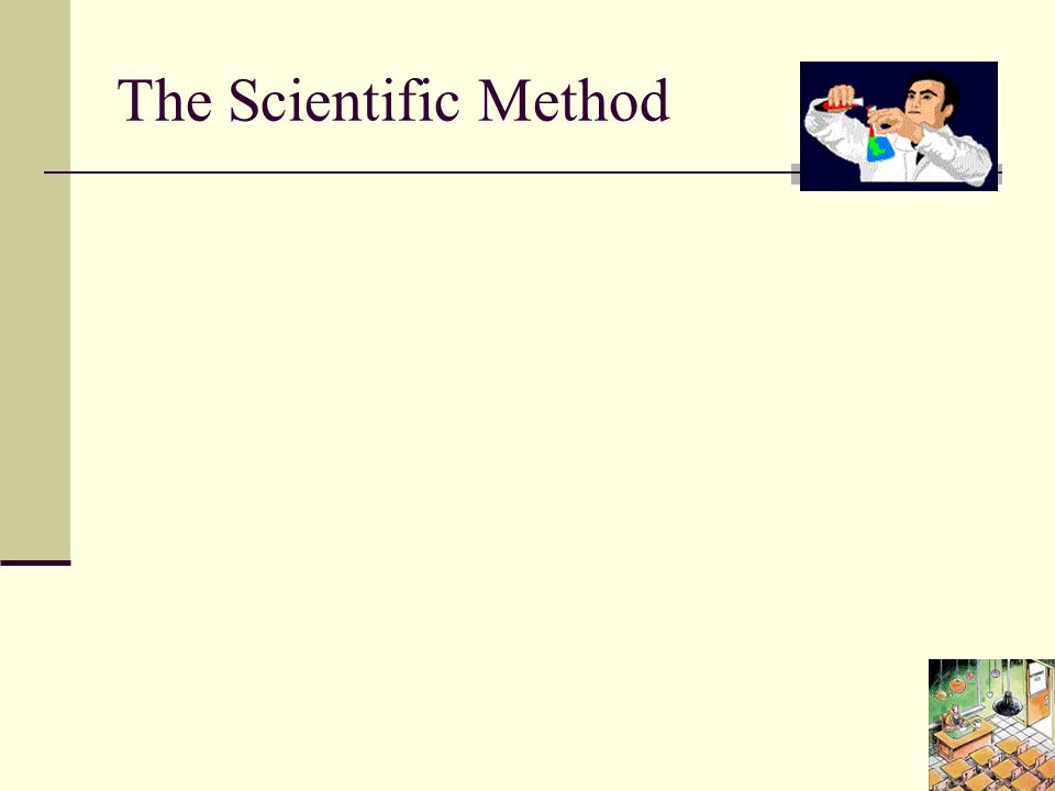 The Scientific Method The scientific method is the only scientific way accepted to back up a theory or idea.