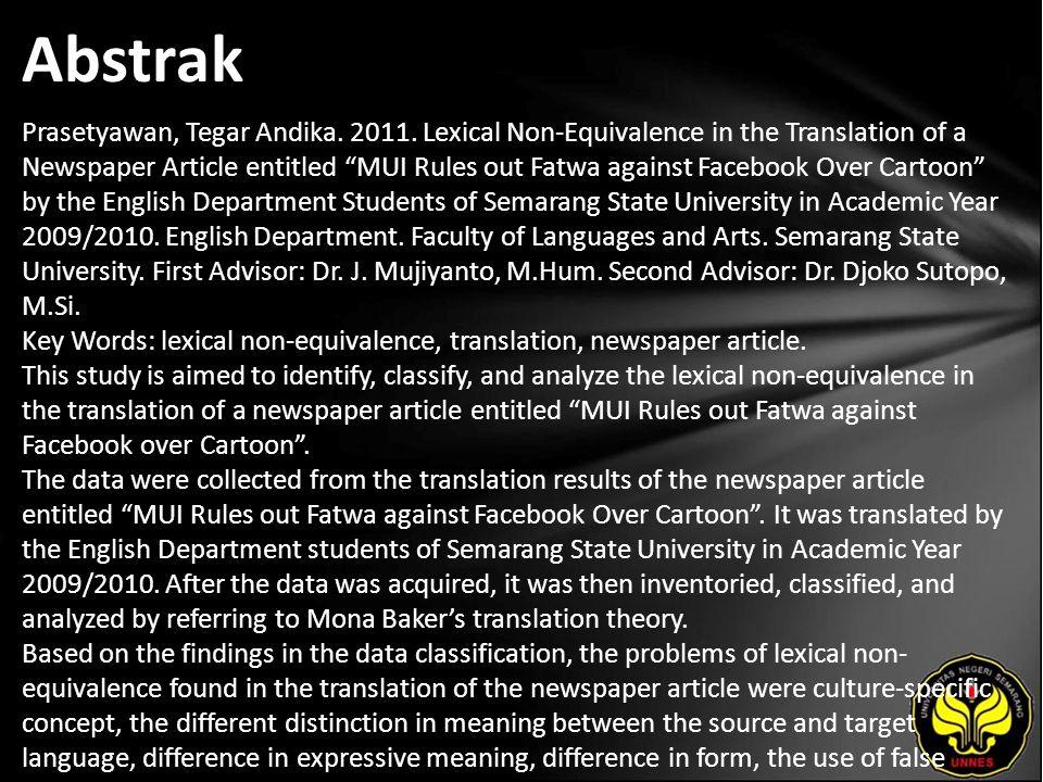Abstrak Prasetyawan, Tegar Andika. 2011.