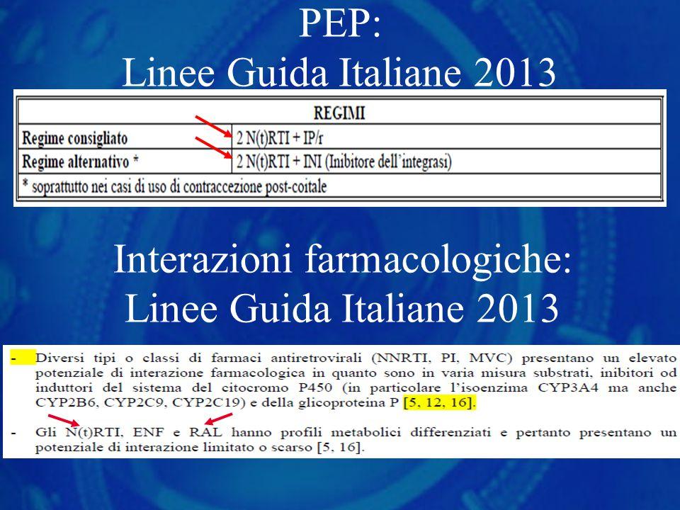 PEP: Linee Guida Italiane 2013 Interazioni farmacologiche: Linee Guida Italiane 2013